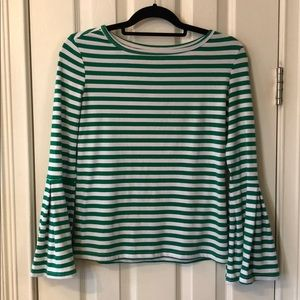 Bell sleeves Striped shirt
